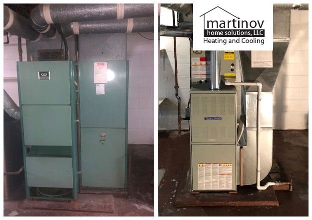 Before and After Residential HVAC Installation